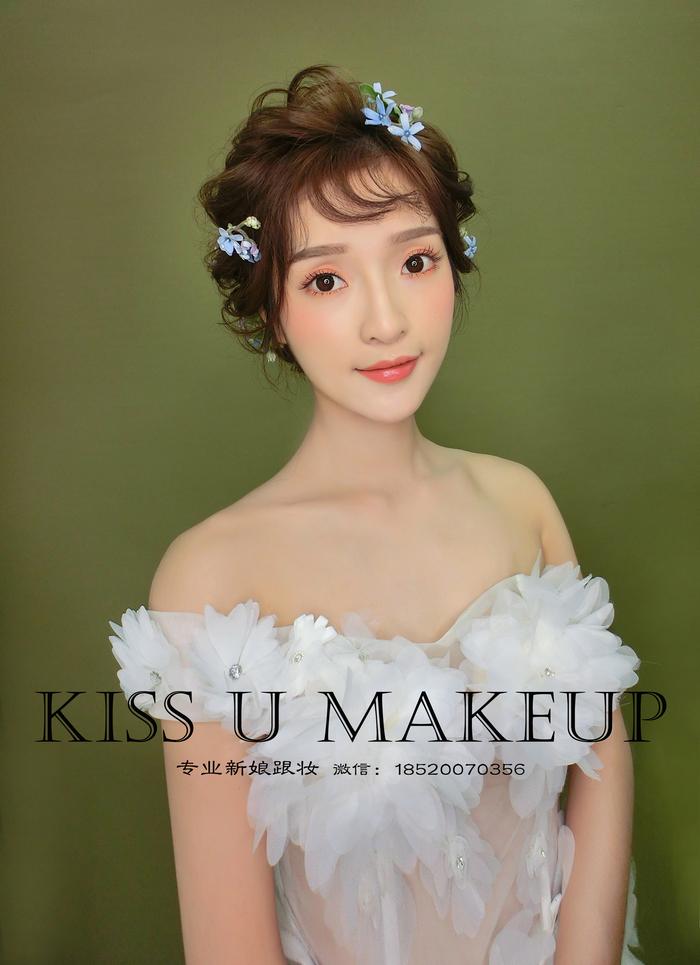短发新娘造型 来自广州KISSU婚礼造型馆客照案例 婚礼时光